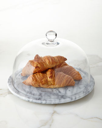 White Marble Plate with Dome