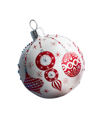 Beguiling Orb Christmas Ball Ornament