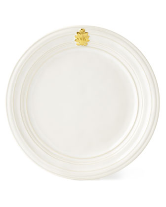 Acanthus Gold Leaf Dinner Plate