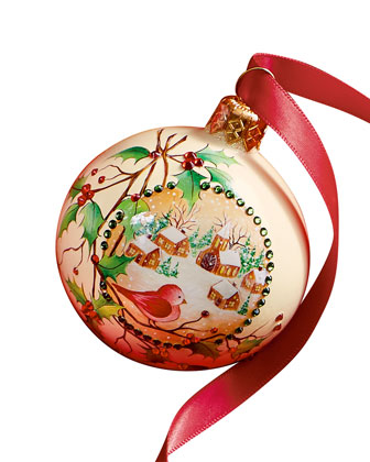 Holly Beguiling Orb Christmas Ornament