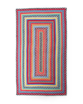 Crayon Braided Rug, 3' x 5'