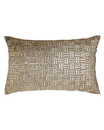 Couture Rivet Beaded-Front Pillow
