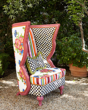 Flower Market Outdoor Chair, Table, & Pillow