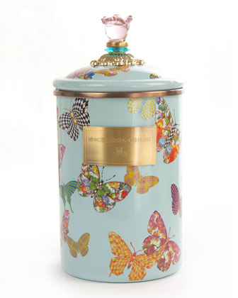 Sky Butterfly Garden Canisters