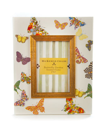 White Butterfly Garden Frames