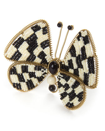 Butterfly Check Napkin Ring