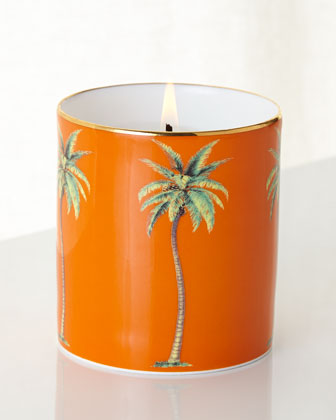 Orange Palm Filled Candle