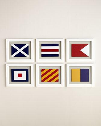 Six Sailing Flag Giclees