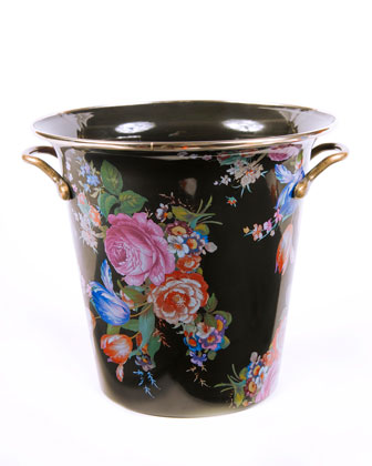 Flower Market Black Enamel Wine Cooler