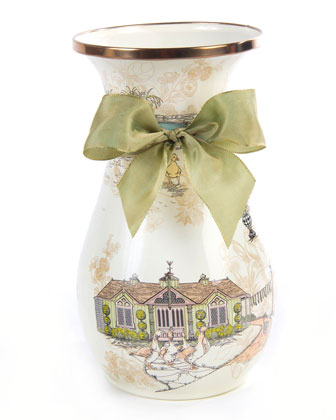 Aurora Tall Enamel Vase