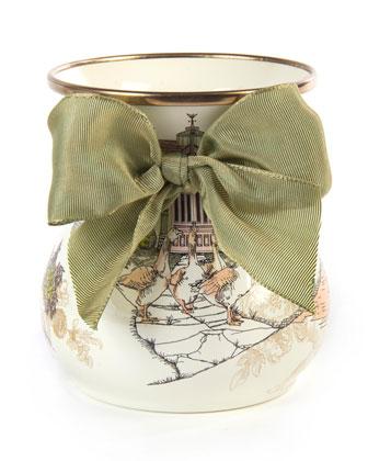 Aurora Short Enamel Vase
