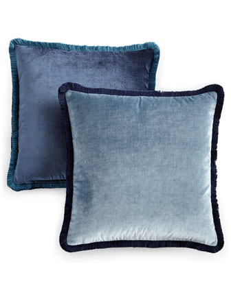 Velda Contrast Velvet Pillows