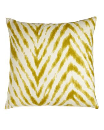 Citron Zebra Pillow