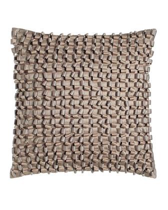 Woven Ribbon Throw & Pillow