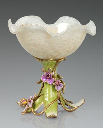 Orchid Pedestal Bowl