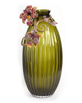 Jonah Lily Scroll Vase