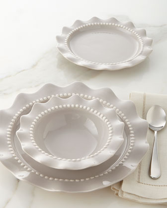 12-Piece Beaded Ruffle Dinnerware Service