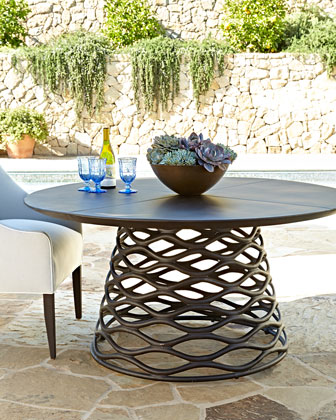 LANE VENTURE Industrial Renaissance Table & Outdoor Upholstered Chair