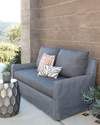 Elena Vesper Fog Outdoor Sofa