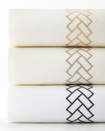 King Embroidered Terraza Duvet Cover