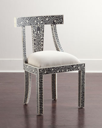 Femi Bone-Inlay Accent Chair