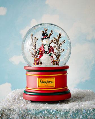 2015 Snowman Musical Snowglobe