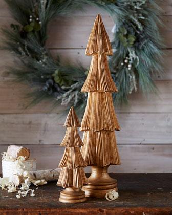 Wood Trees, 2-Piece Set