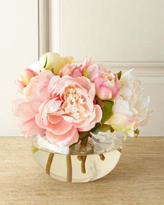 Chantilly Lace Faux-Floral Arrangement