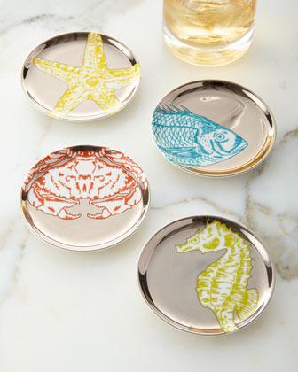 Aquatica Coasters, 4-Piece Set