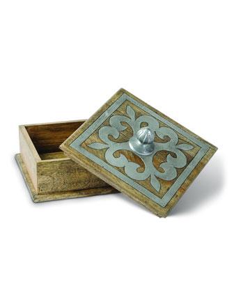 Wood & Metal Inlay Desk Accessories