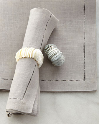 Mother-of-Pearl Shell Napkin Ring