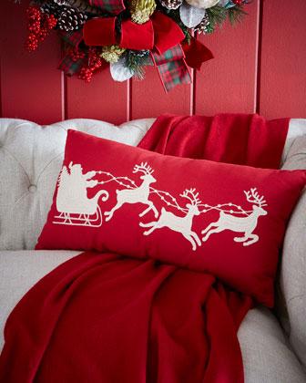 Santa & Sleigh Pillow