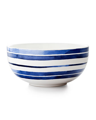 Cote D'Azur Stripe Serving Bowl