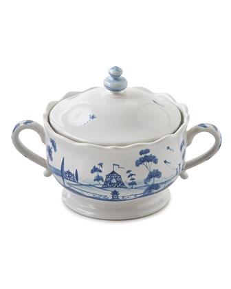 Country Estate Delft Blue Teapot