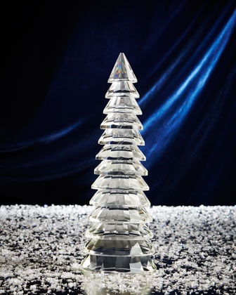 Ribbed Glass Christmas Trees