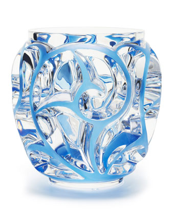 Tourbillons Blue/Clear Medium Vase