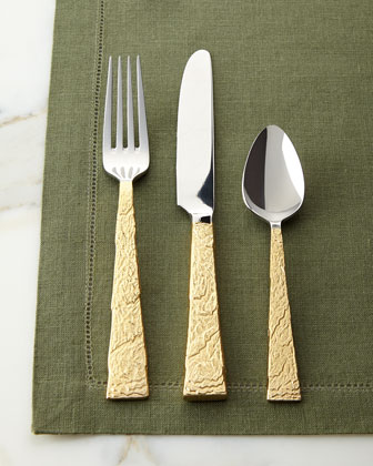 5-Piece Slate Gold Flatware Place Setting