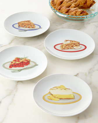 Pie Dessert Plates, 4-Piece Set