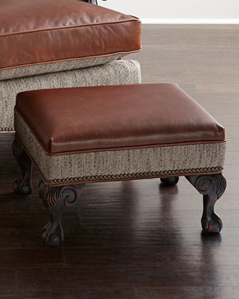 Beaumont Leather Chair & Ottoman