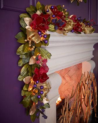 Pre-Lit Royale 6' Christmas Garland
