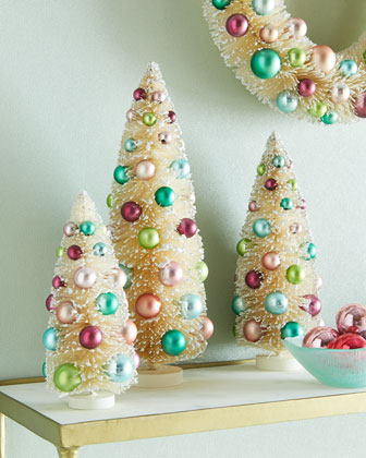 Victorian Christmas Trees, 3-Piece Set