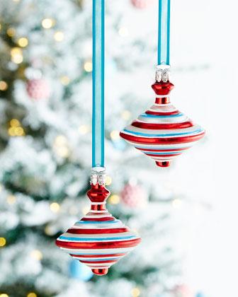 Bear & Top Christmas Ornaments