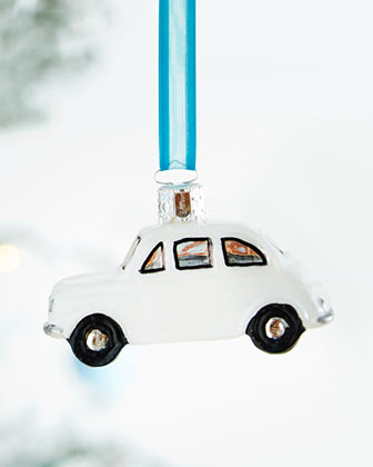 Red Citroen Christmas Ornament