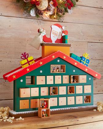 Santa on House Advent Calendar