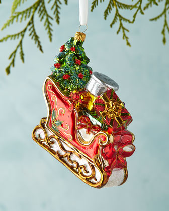 Sleigh Christmas Ornament