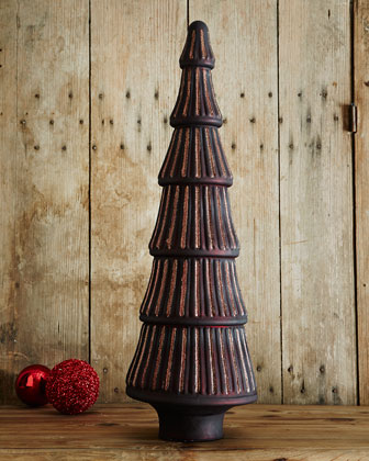 Mercury-Glass Extra-Large Ribbed Tree