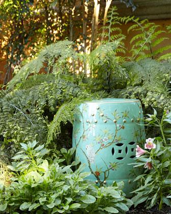 Floral Garden Stool