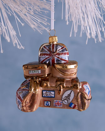 English Luggage Christmas Ornament