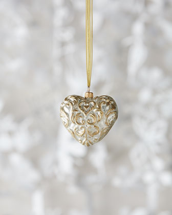 Baroque Heart Christmas Ornament