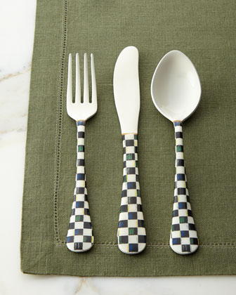12-Piece Courtly Check Enameled Flatware Service